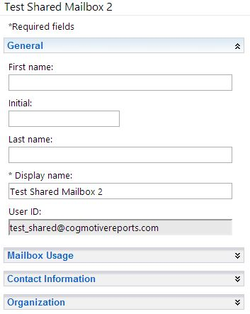 Shared Mailbox with Correct UPN