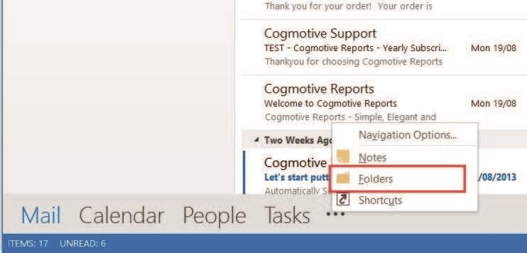 View Folders in Outlook