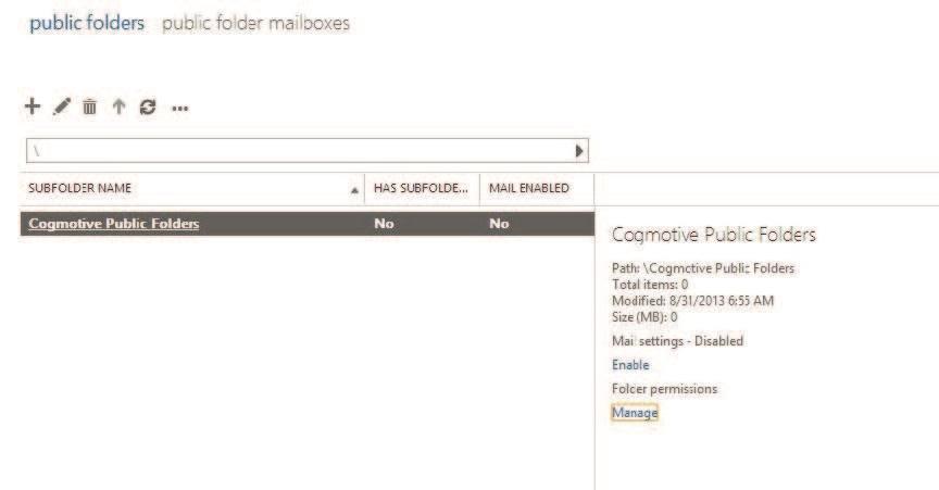Manage Public Folder Permissions