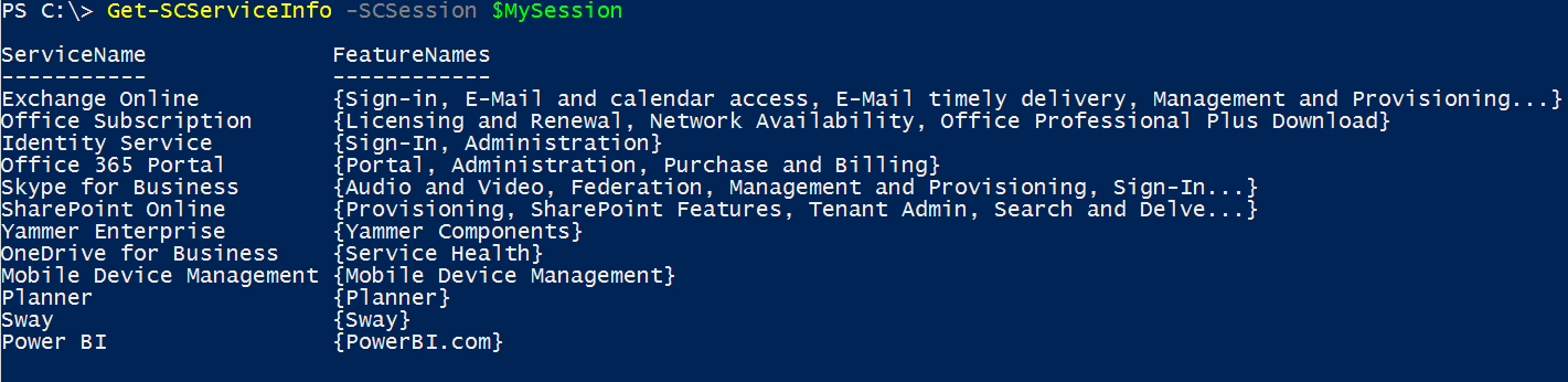 Office 365 Health Monitoring with PowerShell 1