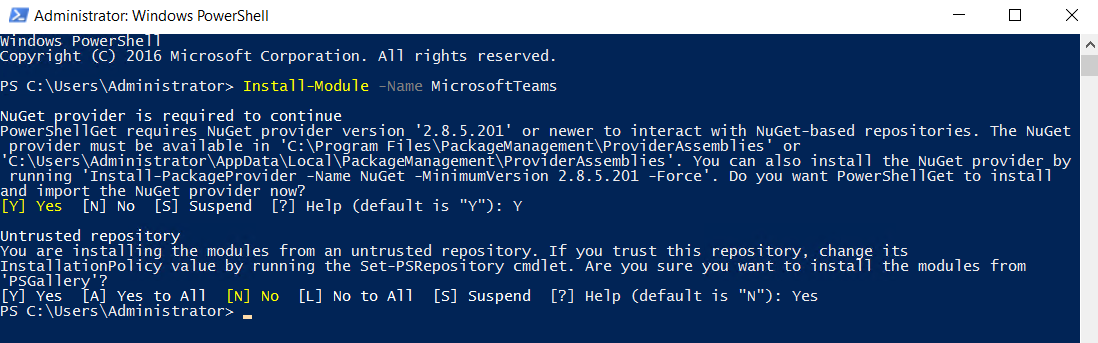 Manage Microsoft Teams PowerShell Code