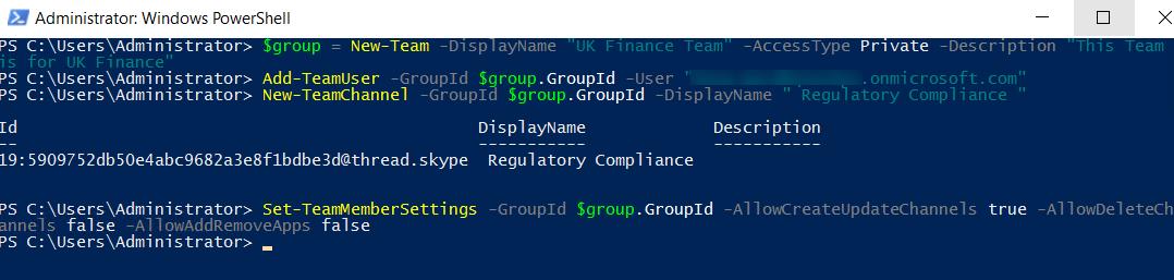 Use PowerShell to Manage Microsoft Teams