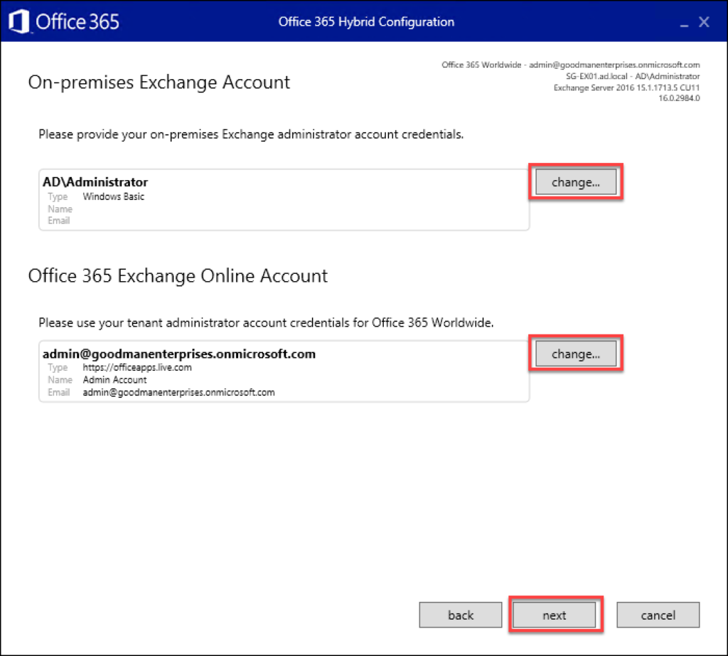 Step 12 in how to migrate Exchange to O365