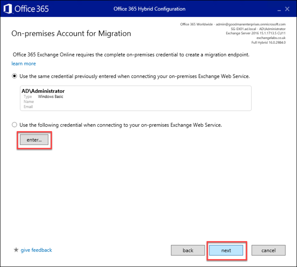 Step 15 in Exchange to O365 migrations