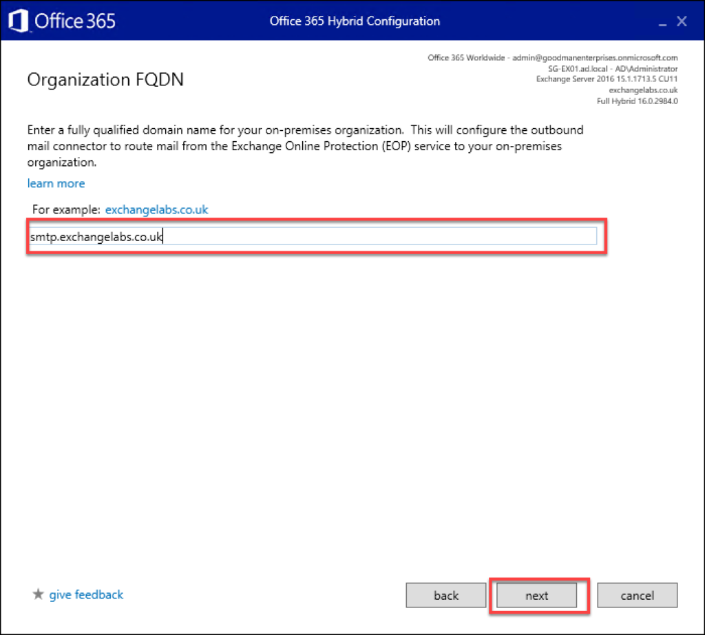 Migrating Exchange to O365 - Step 21
