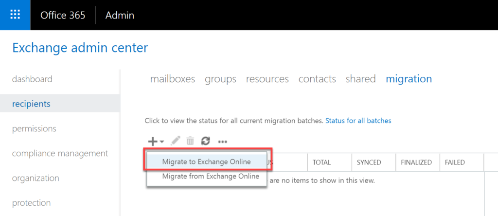 Step 27 in Exchange to Office 365 migrations