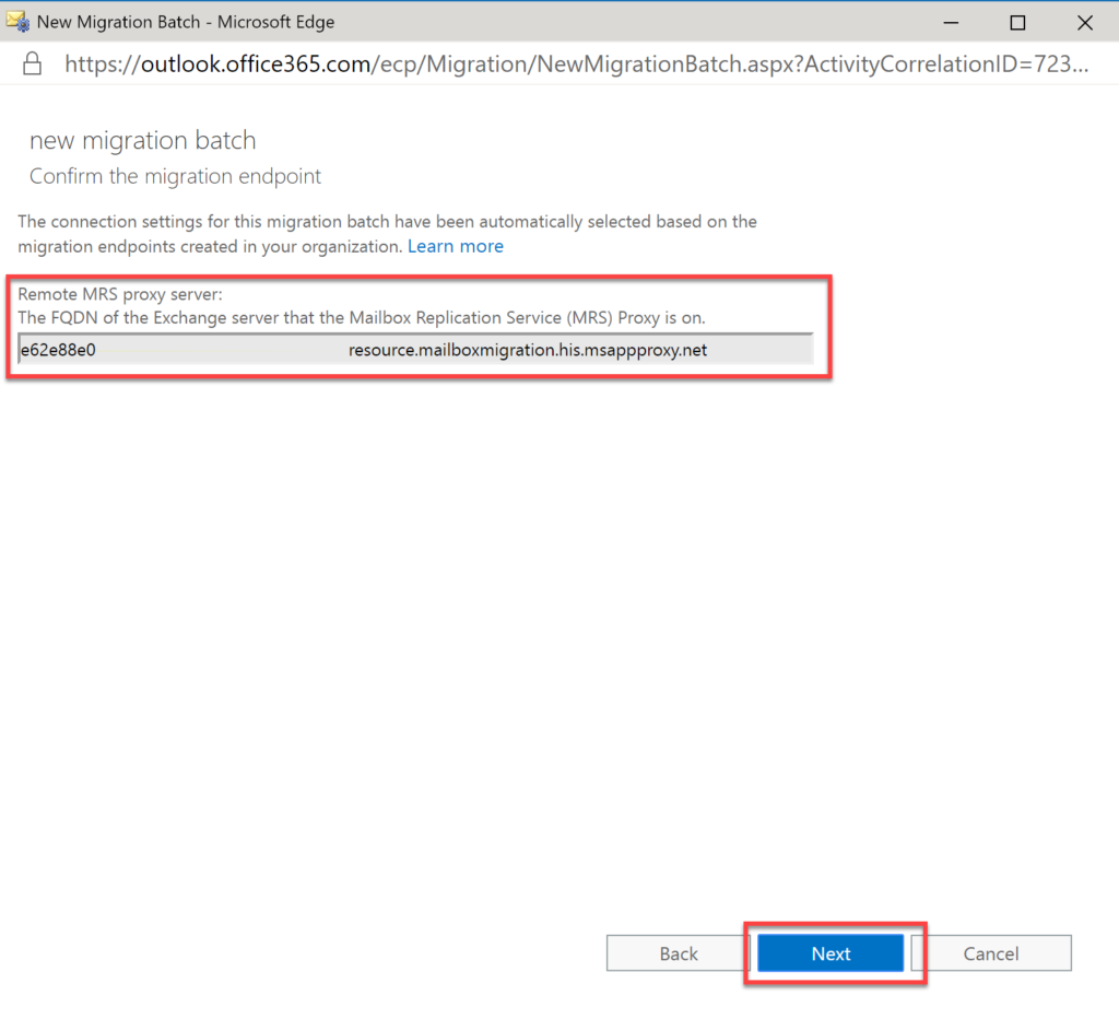 Step 30 - Migrating Exchange to Office 365