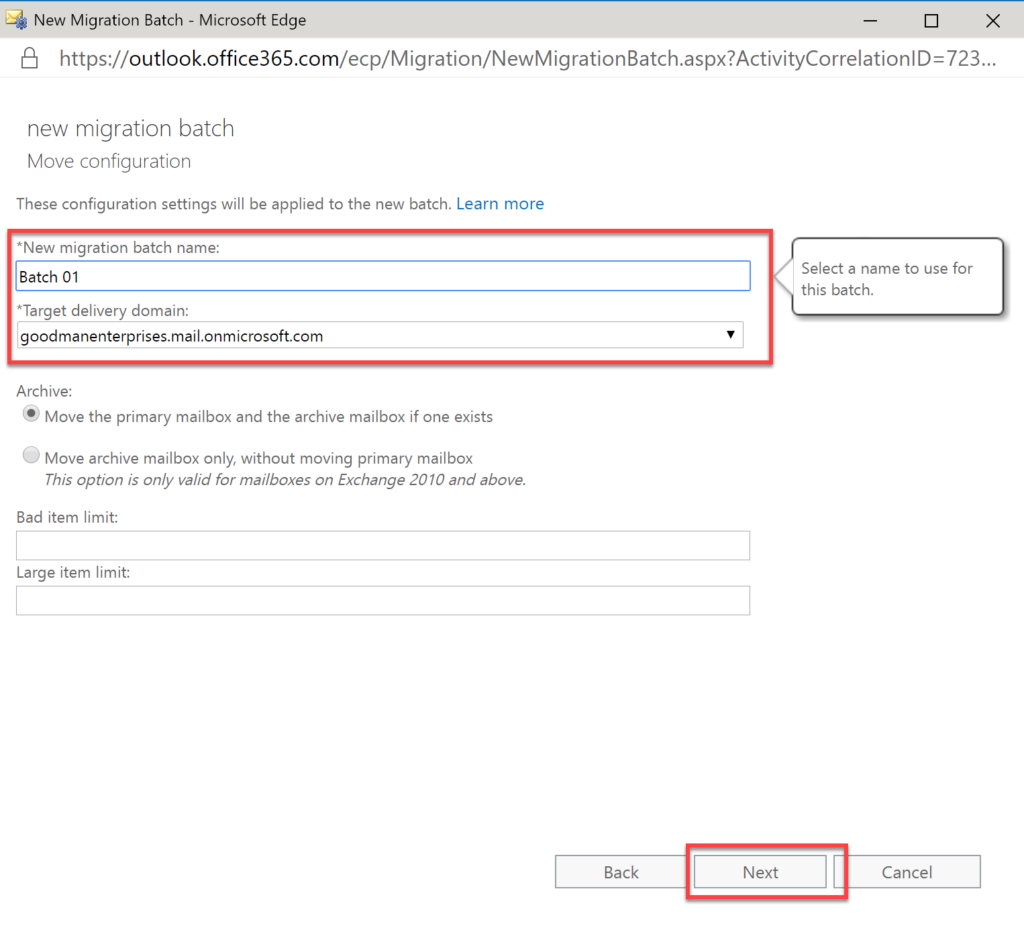 Step 31 in how to migrate Exchange to Office 365
