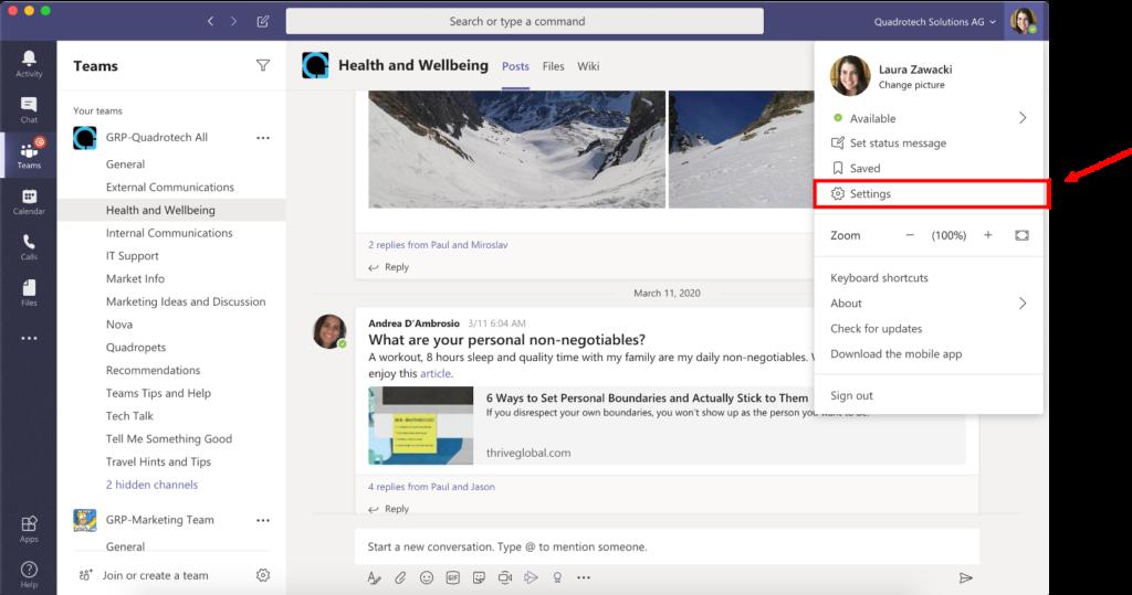 Test Call Microsoft Teams - Step 2