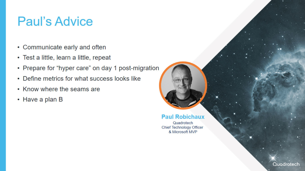 Paul Robichaux on Office 365 tenant migrations
