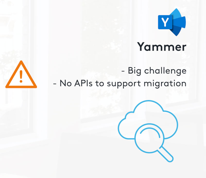 Steps to be aware of in a Yammer migration
